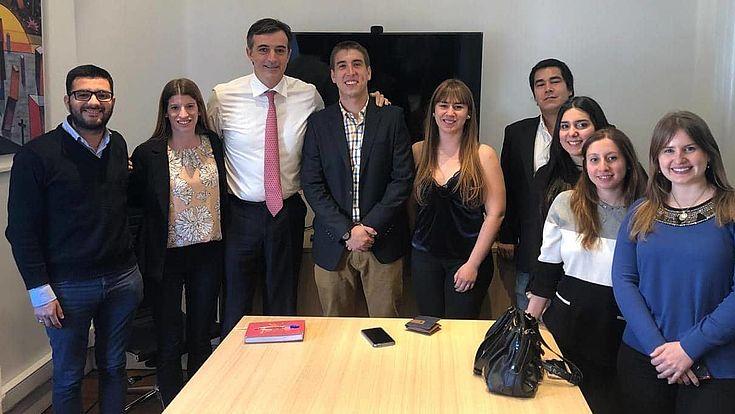 con el Senador Nacional, Esteban Bullrich