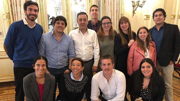 con el Ministro de Educación, Cultura, Ciencia y Tecnología de la Nación, Alejandro Finocchiaro