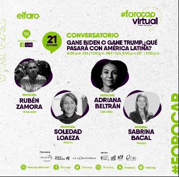 El FOROCAP 2020 aborda las elecciones Presidenciales de EE.UU. y la situación de la comunidad latina